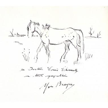Éloge de Yves Brayer, 1954 - Dessin original